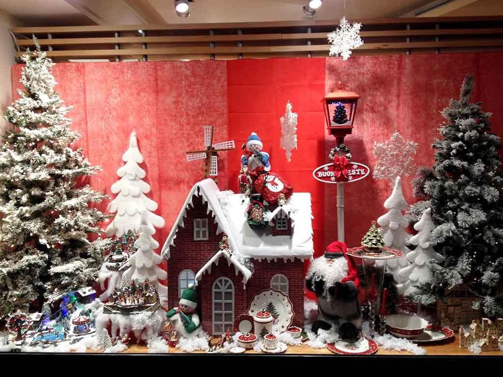 Il Natale le vetrine