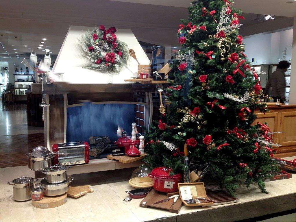 Vetrine natalizie espositore per vetrina il camino for Caminetto finto natale