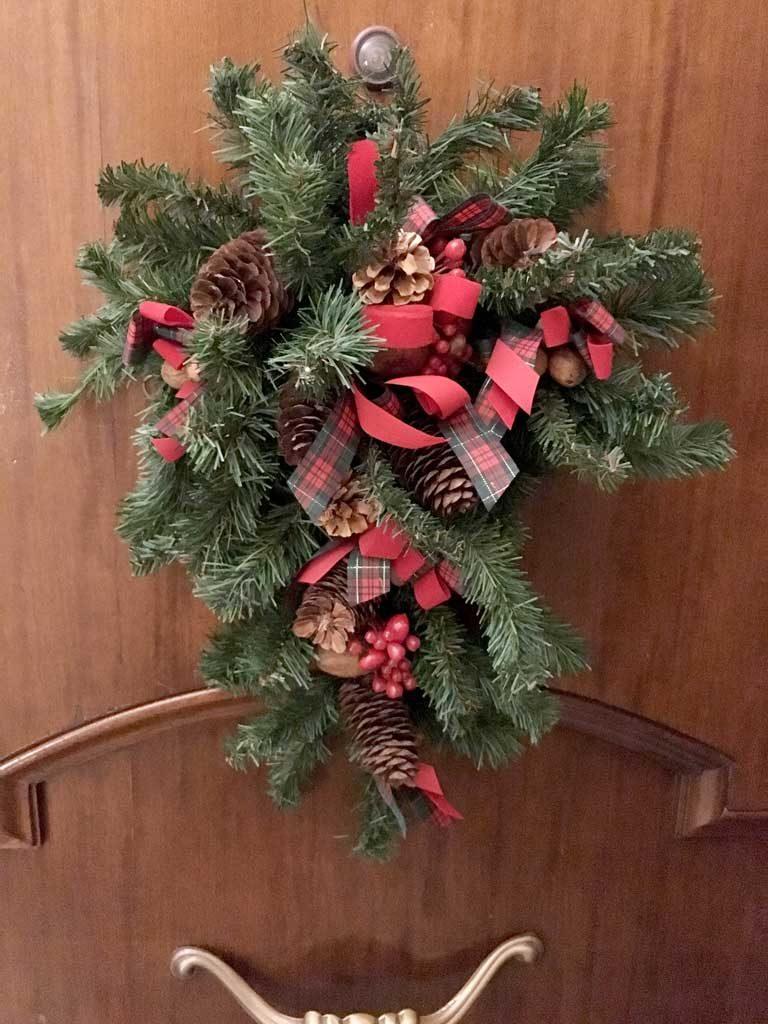 Addobbi natalizi per decorare casa cos ho decorato la mia - Addobbi natalizi per la porta ...