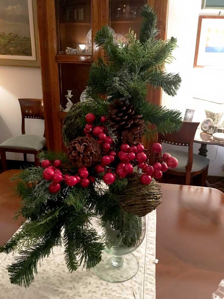 Addobbi natalizi per decorare casa cos ho decorato la mia - Rami decorativi natalizi ...