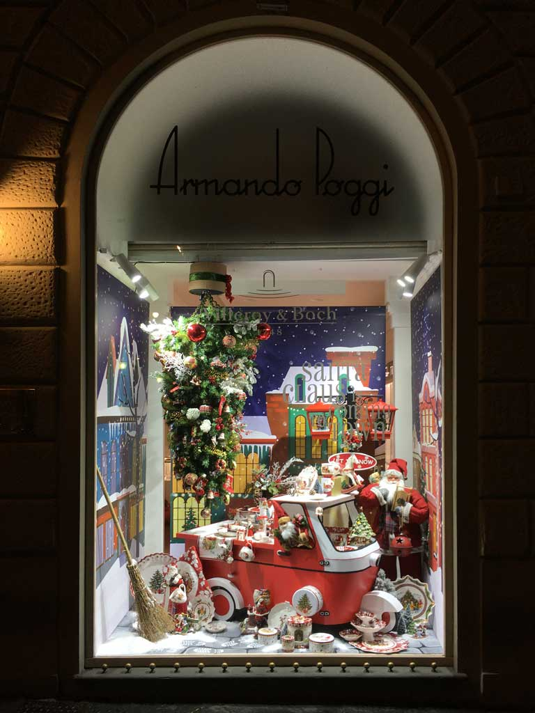 Le Vetrine di Natale 2019 da Poggi a Firenze