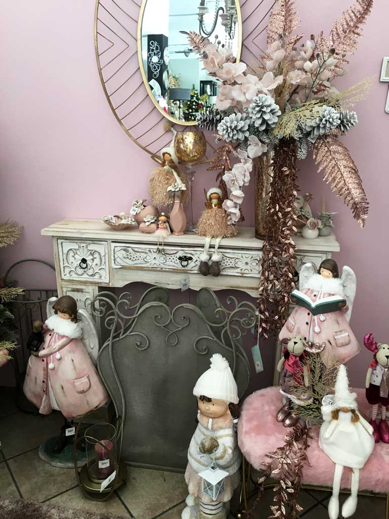 Ambiente Shabby con i colori del Natale 2019